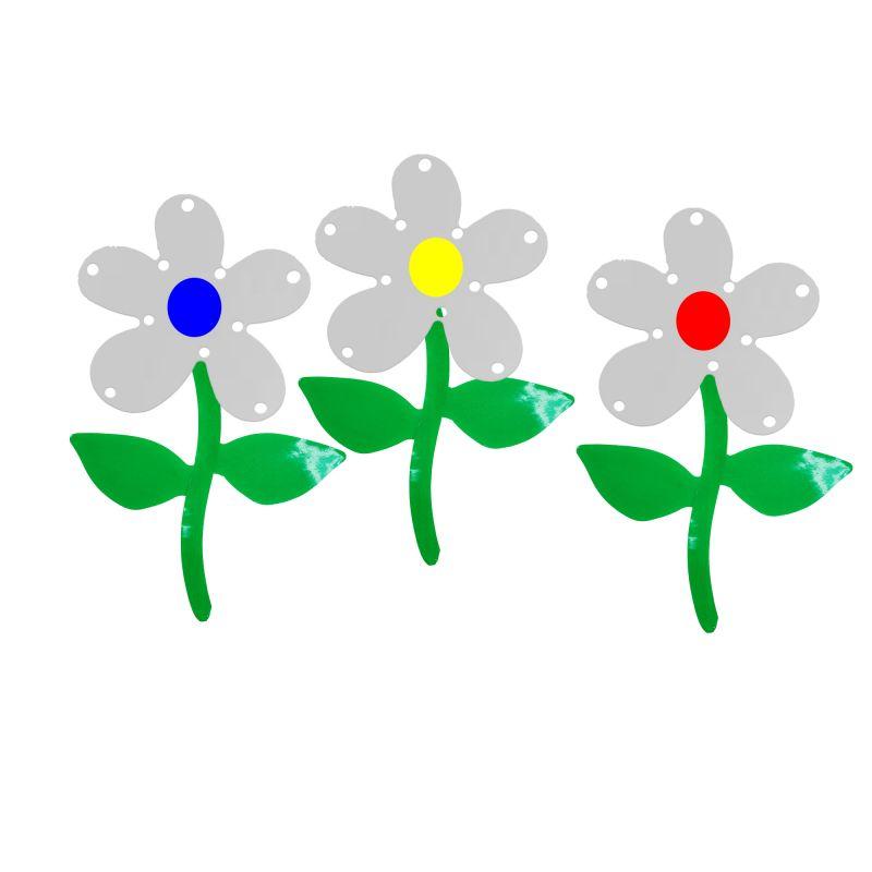 Set Of 3 Flower Mirrors