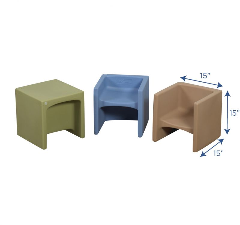 Woodland Cube Chairs – Set Of 3