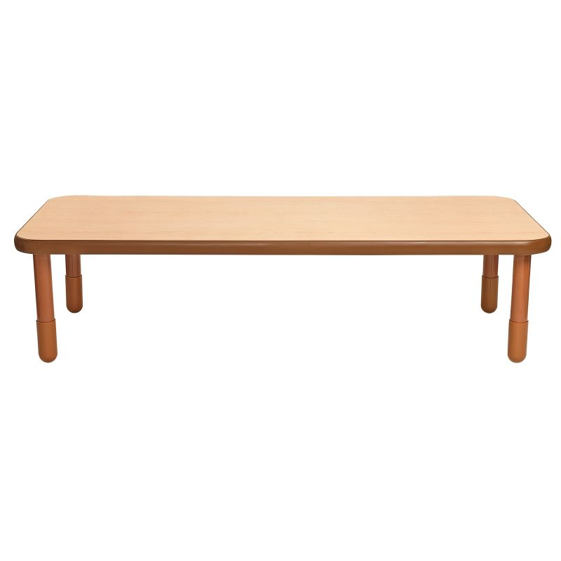 Baseline® 72″ X 30″ Rectangular Table – Natural Wood With 18″ Legs