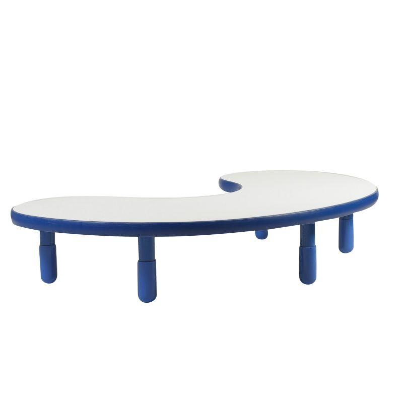 Baseline® Teacher/Kidney Table – Royal Blue With 12″ Legs