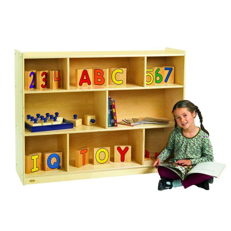Value Line™ Birch 36″H Mobile Divide 3-Shelf Storage