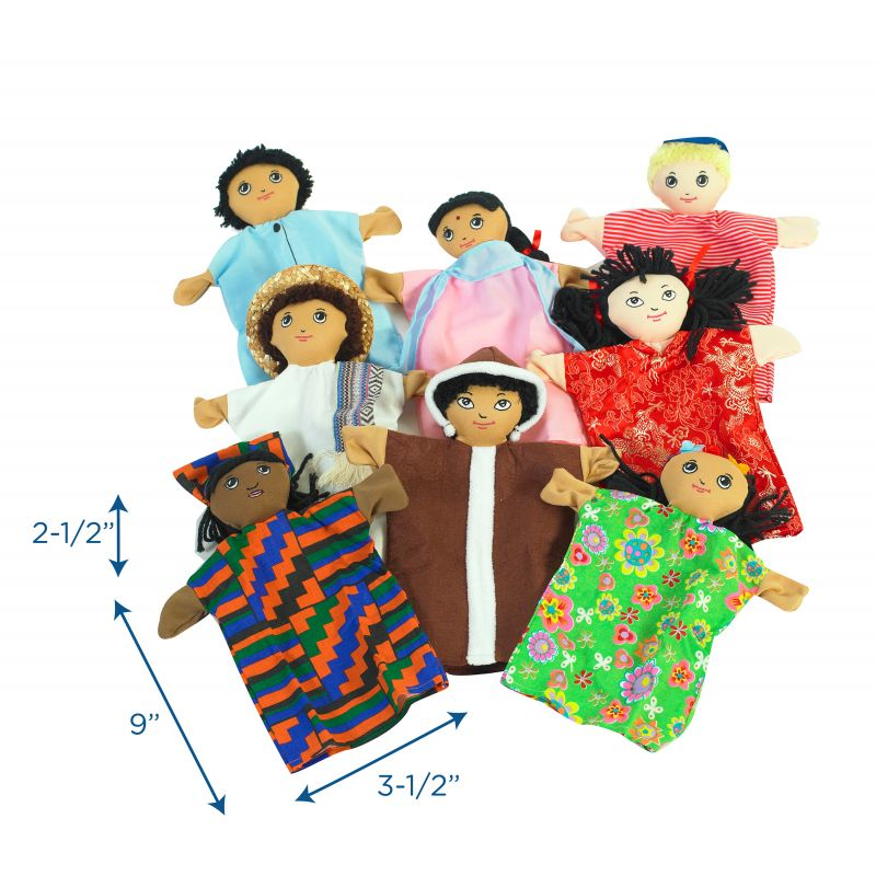 Multi-cultural 9″ Hand Puppets