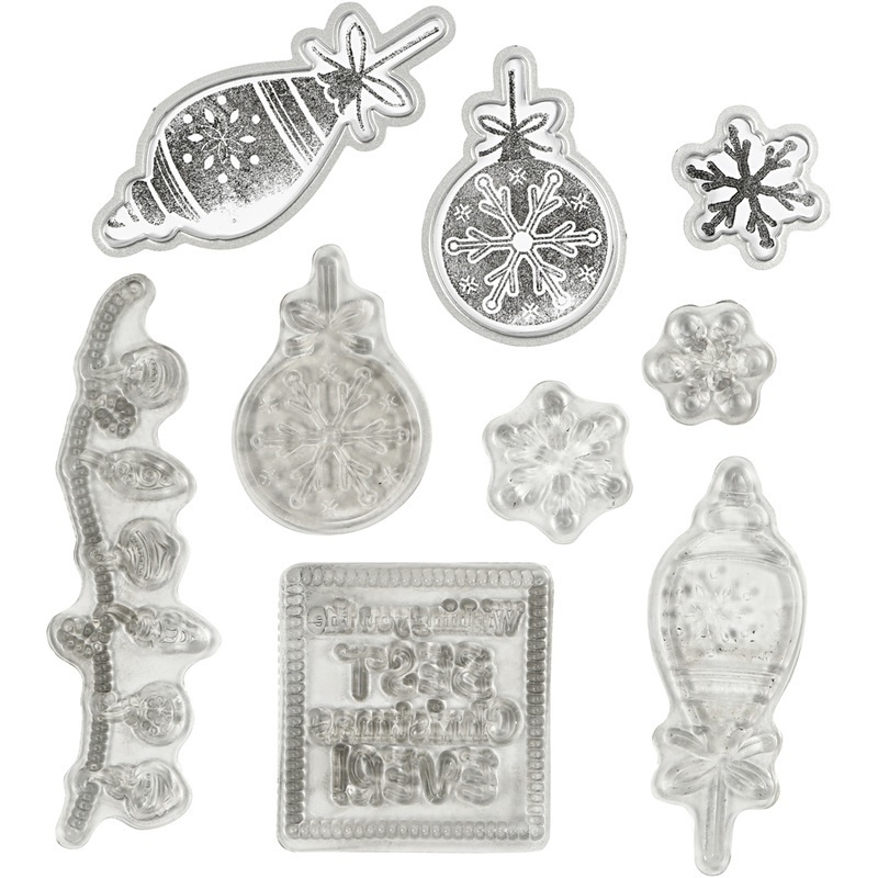 Creativ Company Clear Stamps And Cutting Dies, Christmas, 1 Pc