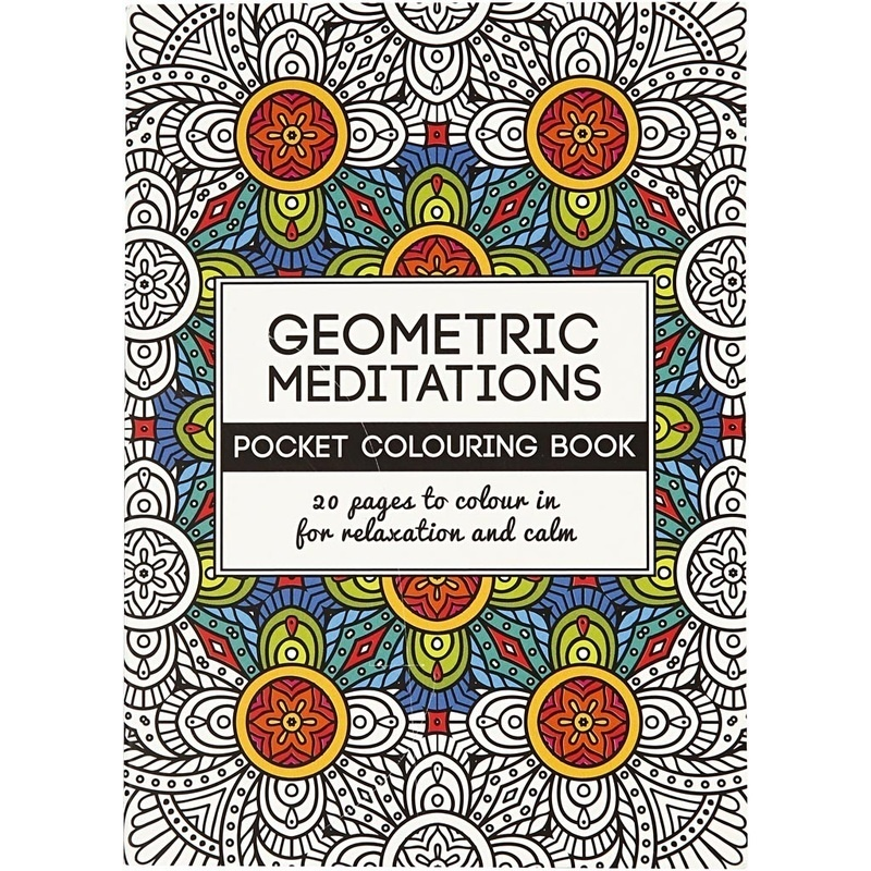 Creativ Company Mindfullness Colouring Book, Geometric, 10,5x14,5 Cm, 20, 1 Pc