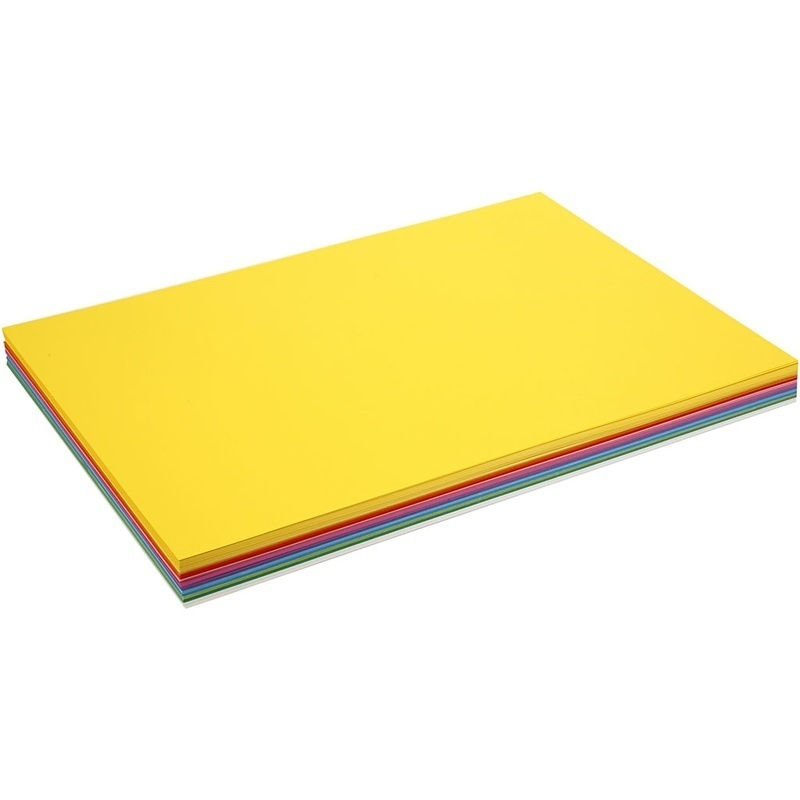 Colortime Happy Card, Assorted Colours, A2, 420x600 Mm, 180 G, 300 Ass Sheets