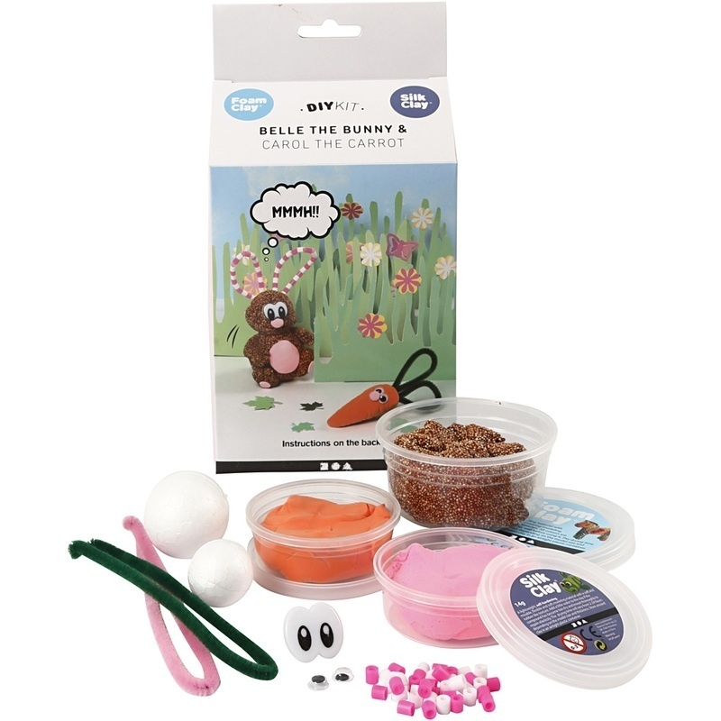 Silk Clay Funny Friends, Belle The Bunny , 1 Set