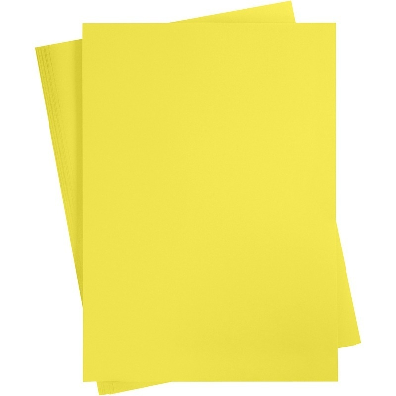 Creativ Company Card, Sun Yellow, A2, 420x600 Mm, 180 G, 10 Sheet, 1 Pack