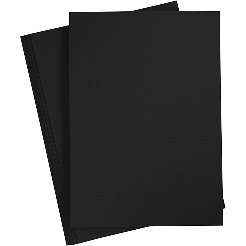 Creativ Company Card, Black, A4, 210x297 Mm, 210-220 G, 10 Sheet, 1 Pack