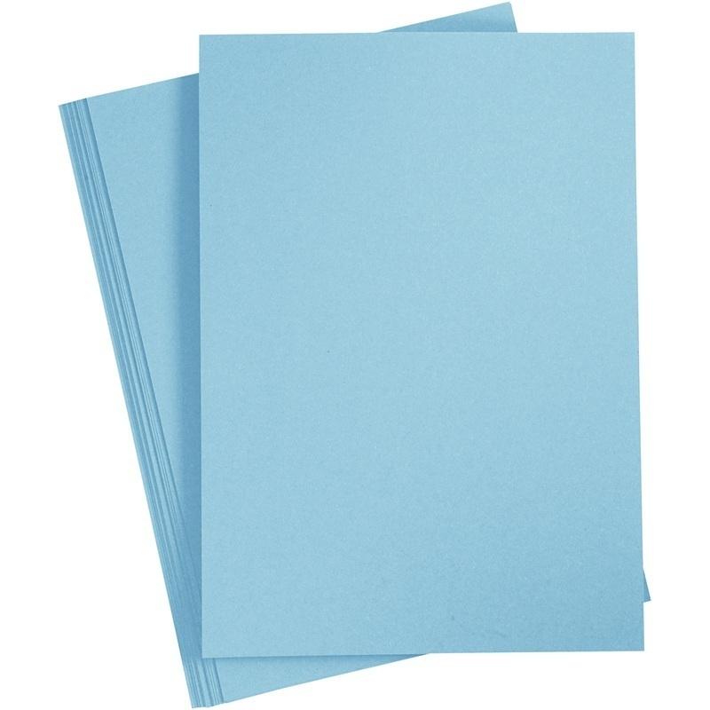 Creativ Company Card, Sky Blue, A4, 210x297 Mm, 210 G, 10 Sheet, 1 Pack