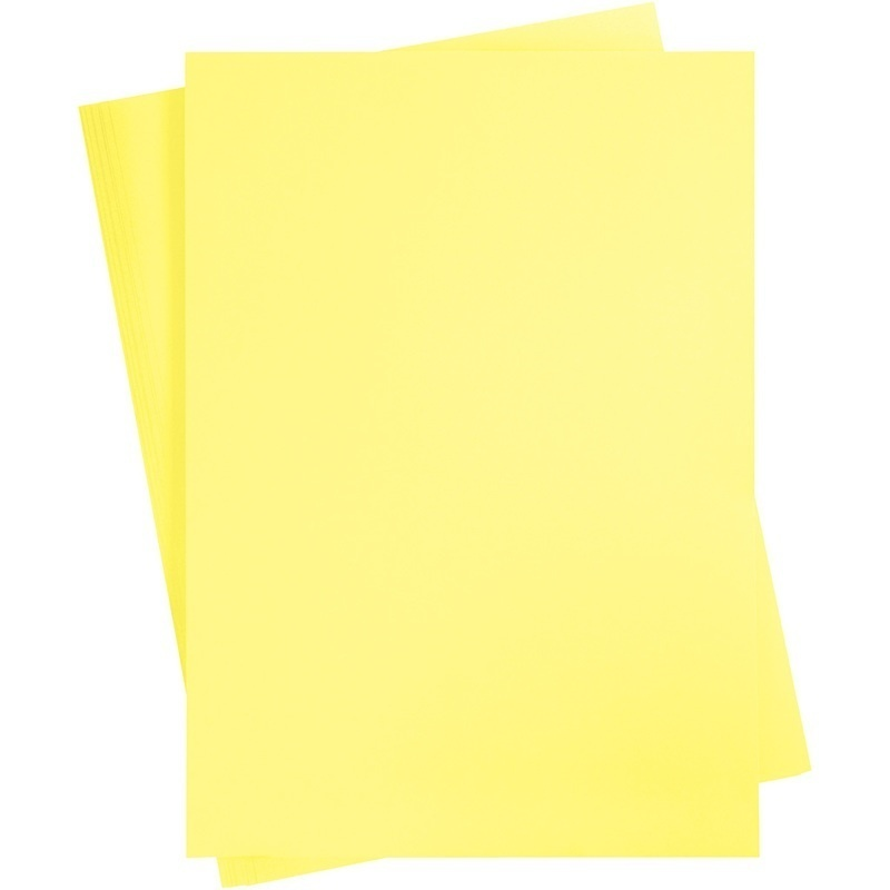 Creativ Company Card, Canary Yellow, A2, 420x600 Mm, 180 G, 10 Sheet, 1 Pack