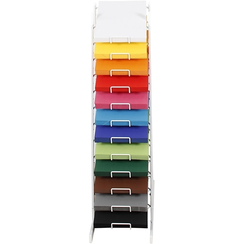 Colortime Coloured Card, Assorted Colours, 900 Mm, A4, 210x297 Mm, 100 Sheet, 12 Asstd.