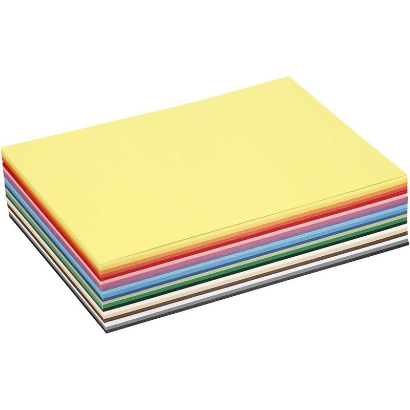 Colortime Creative Card, Assorted Colours, A5, 148x210 Mm, 180 G, 60 Ass Sheets