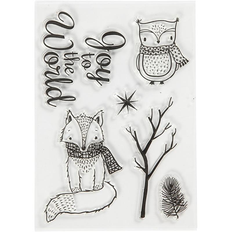 Creativ Company Silicone Motives, Owl And Fox, 10,5x15 Cm, 1 Sheet