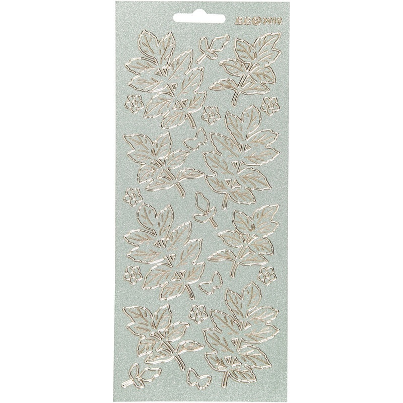 Creativ Company Stickers, Gold, Leaves, 10x23 Cm, 1 Sheet