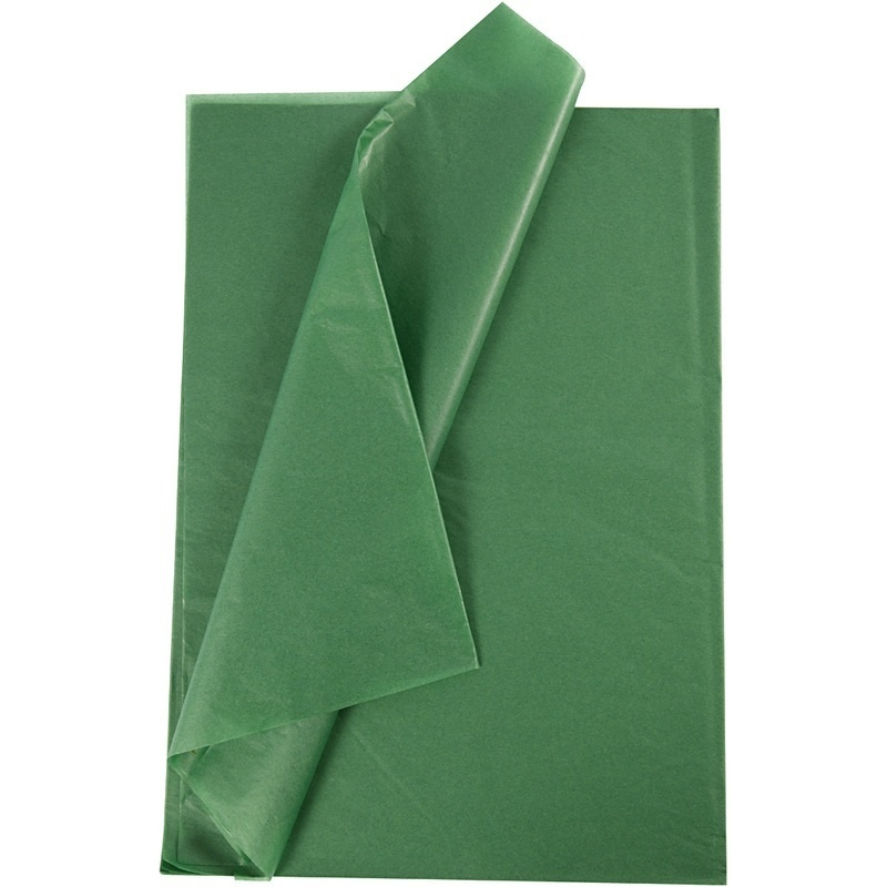 Creativ Company Tissue Paper, Green, 50x70 Cm, 14 G, 25 Sheet, 1 Pack