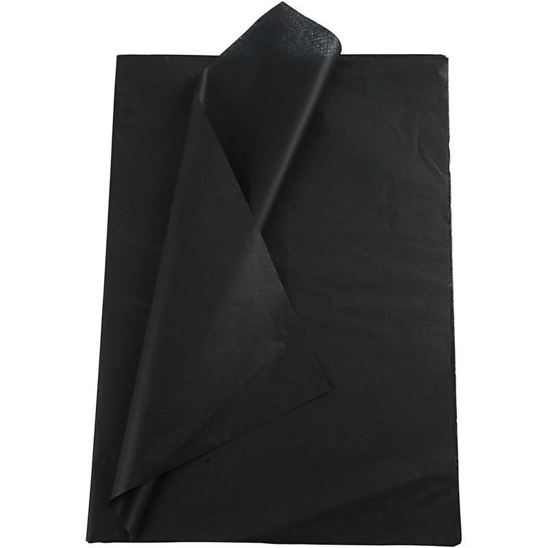 Creativ Company Tissue Paper, Black, 50x70 Cm, 14 G, 10 Sheet, 1 Pack