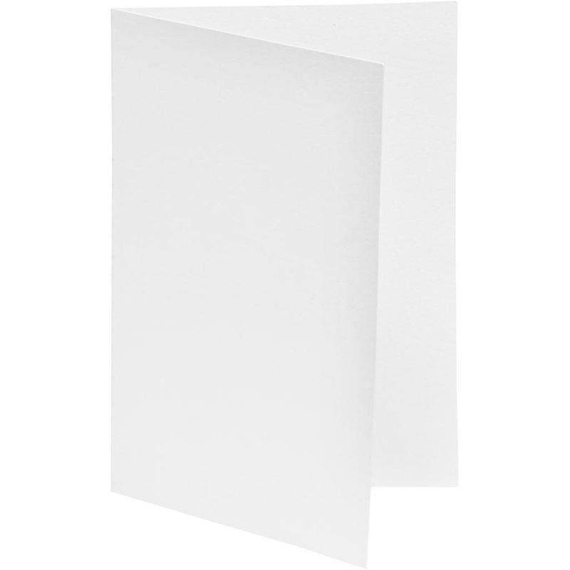 Happy Moments Greeting Card, White, 10,5x15 Cm, 250 G, 10 Pc