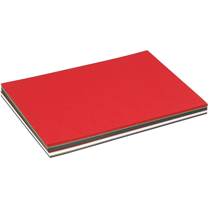 Colortime Christmas Card, Assorted Colours, A5, 150x210 Mm, 180 G, 60 Ass Sheets