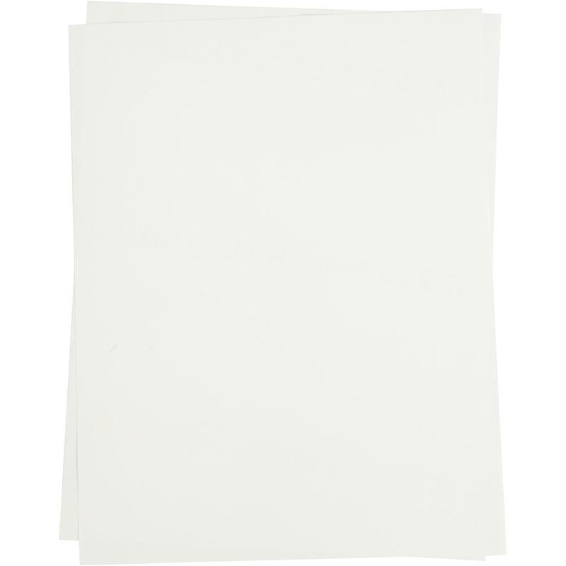 Creativ Company Transfer Sheet, Transparent, 21,5x28 Cm, For Light Textiles, 5 Sheet, 1 Pack