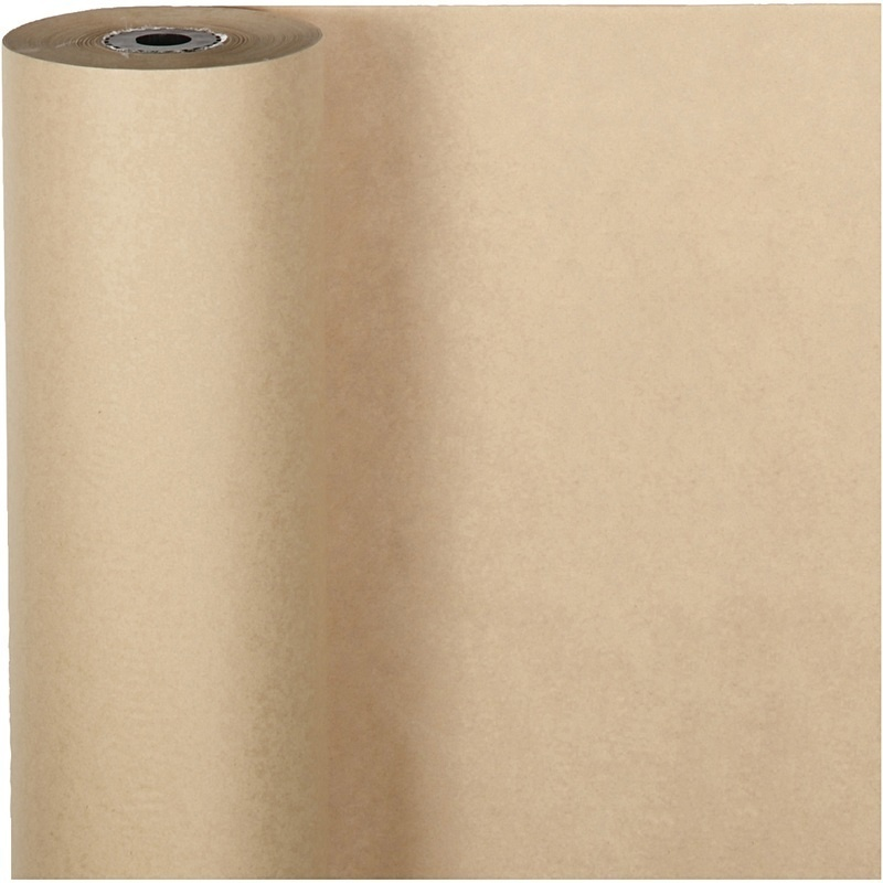 Creativ Company Wrapping Paper, Natural, W: 50 Cm, 60 G, 100 M, 1 Roll