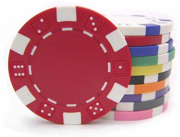 11.5 Gram Dice Rim Poker Chips (25/Pkg)