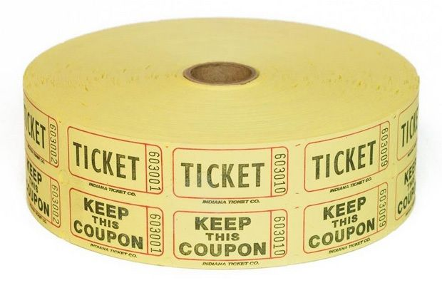 Raffle Tickets - 2,000 Double Stub Raffle Tickets
