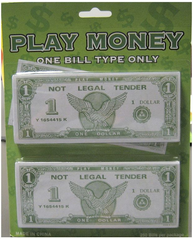 Casino Supply Paper Play Money Bulk: Denomination