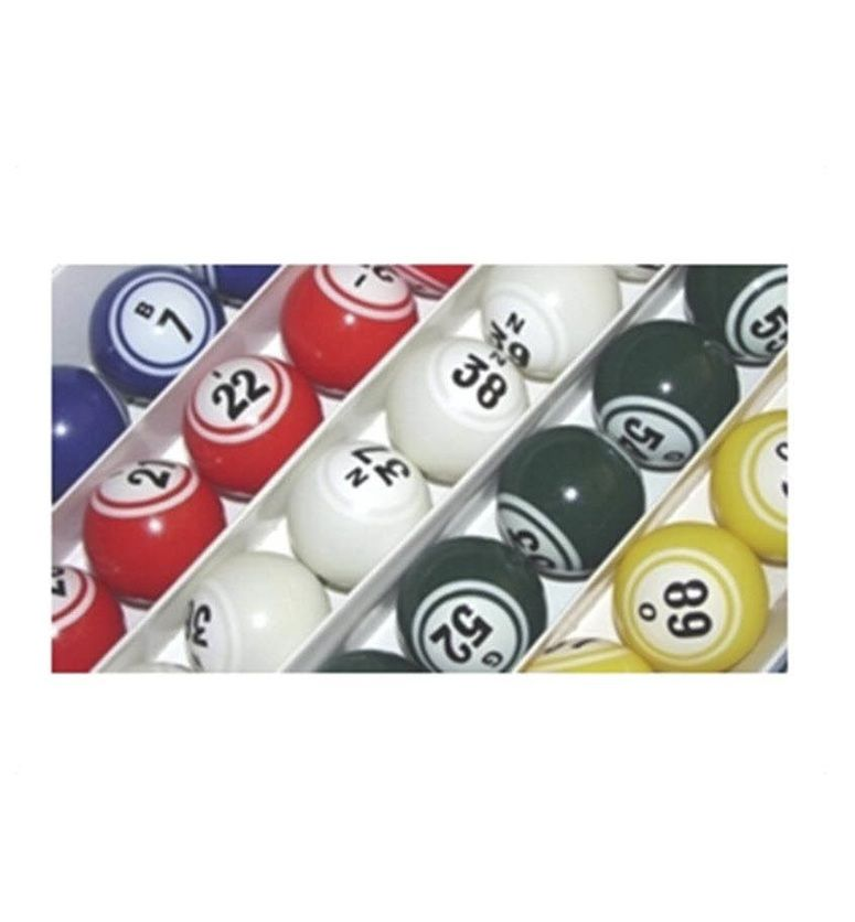 Bingo Balls - Colored & Coated Double Numbered Ping Pong Size