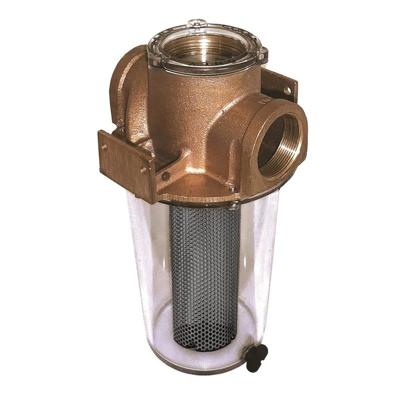 """Groco Arg-2500 Series 2-1/2"""" Raw Water Strainer Monel Basket"""