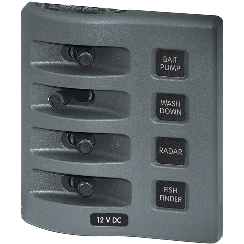 Blue Sea 4305 Weatherdeck® 12v Dc Waterproof Switch Panel - 4 Posistion
