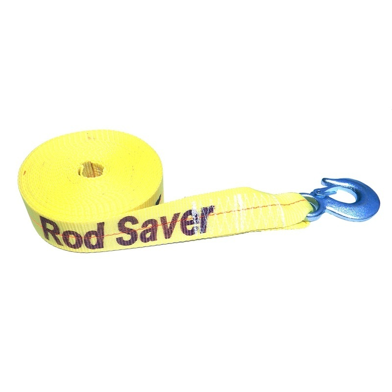 """Rod Saver Heavy-duty Winch Strap Replacement - Yellow - 2"""" X 25'"""