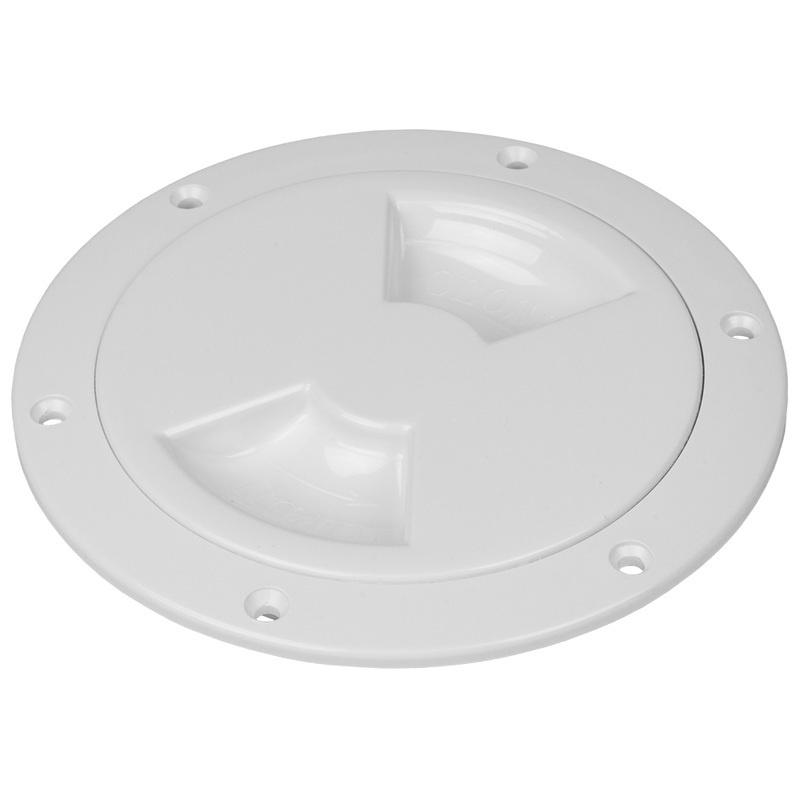 "Sea-dog Smooth Quarter Turn Deck Plate - White - 5"""
