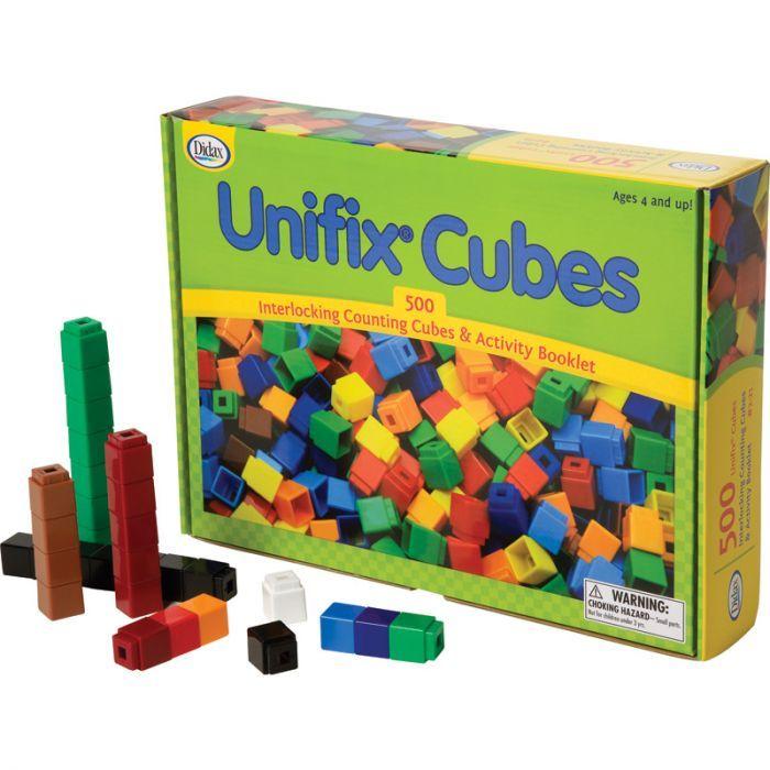 Unifix Cubes, Set Of 500