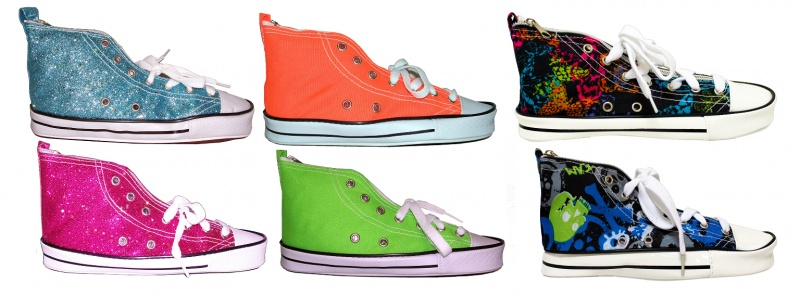 Pencil Pouch - Sneaker Shaped, Zipper Closure, Assorted Styles