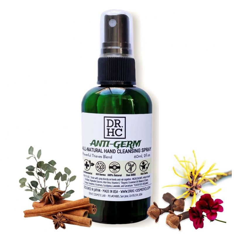 Dr.Hc Anti-Germ All-Natural Hand Cleansing Spray (With Powerful Thieves Blend) (60Ml, 2Fl.Oz.)