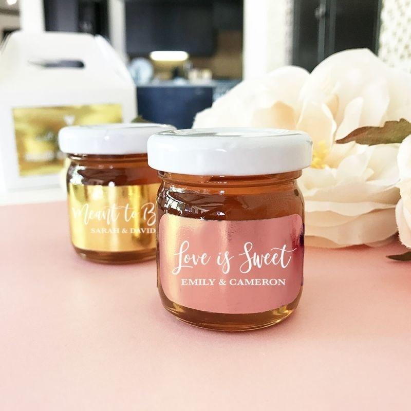 Personalized Foil Honey Jars