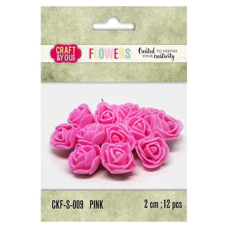 Craft & You Design Foam Roses Set Of 12 Pcs 2cm