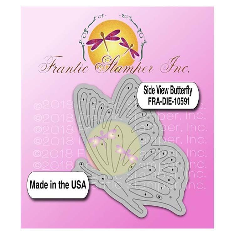 Frantic Stamper Precision Die - Side View Butterfly