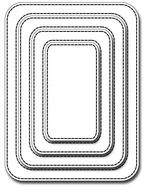 Frantic Stamper Precision Die - Stitched Rounded Rectangles