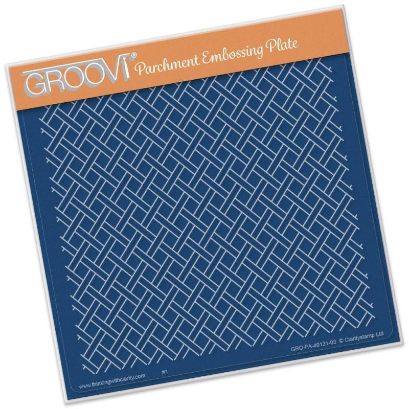 Groovi Woven Trellis A5 Square Plate