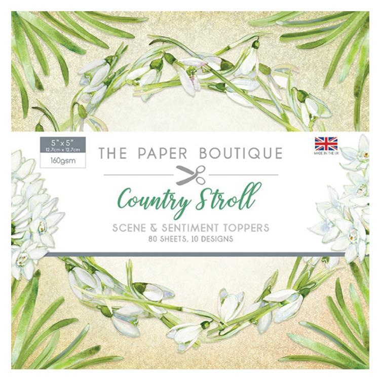 The Paper Boutique Country Stroll 5x5 Sentiments Pad