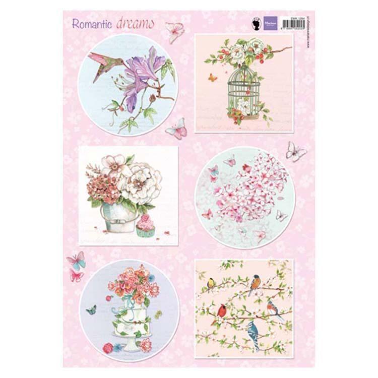 Marianne Design Cutting Sheet Romantic Dreams - Pink