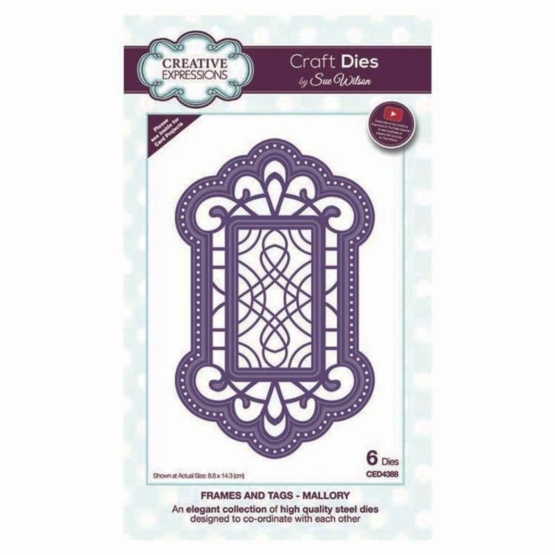 Dies By Sue Wilson Frames And Tags Collection Mallory