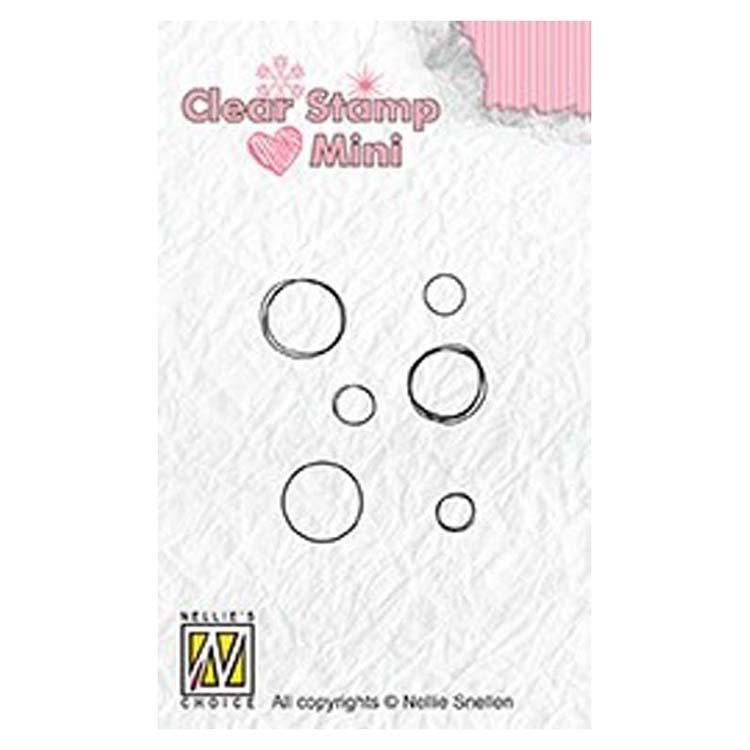 Nellie's Choice Clear Stamp Minis Bubbles