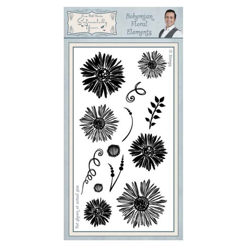 Sentimentally Yours Bohemian Floral Elements Dl Clear Stamp
