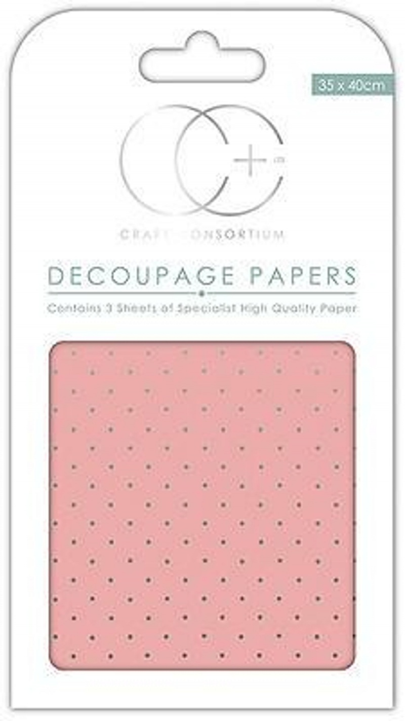 Pink/Silver Decoupage Papers