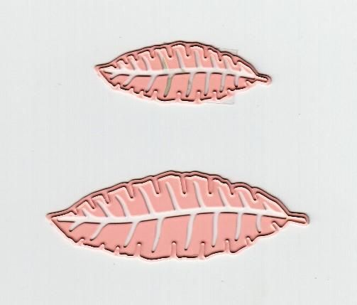 Cutting And Embossing Die - Small Leaves (set Of 2 )