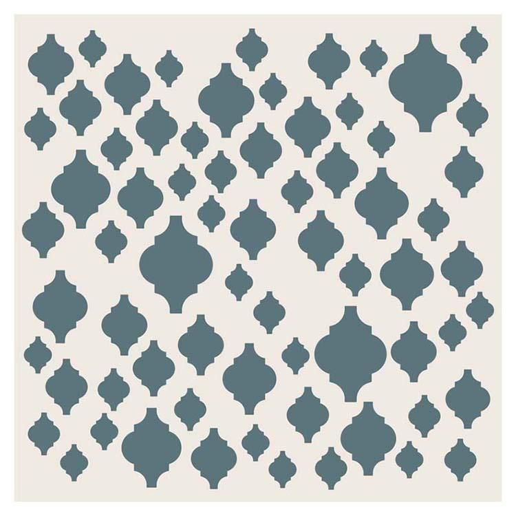 Sentimentally Yours Scattered Moroccan Tiles 8 X 8 Stencil