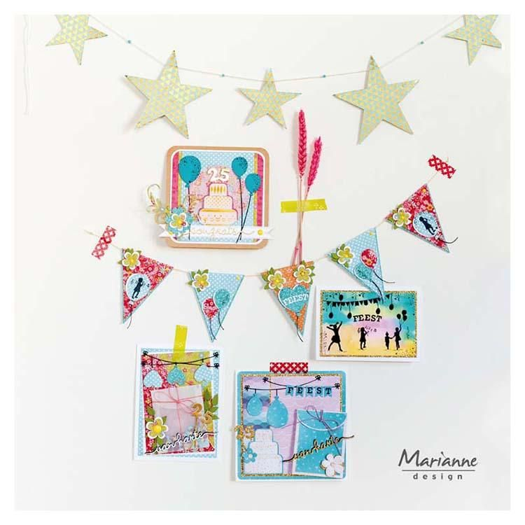 Marianne Design Clear Stamps Silhouette Party - 25th Anniversary