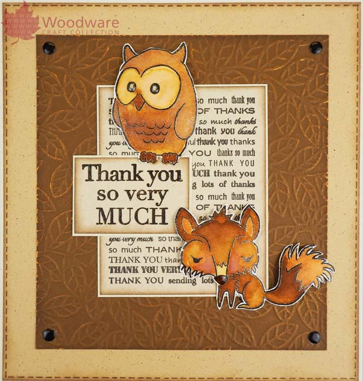Woodware Clear Singles Mini Background Greeting